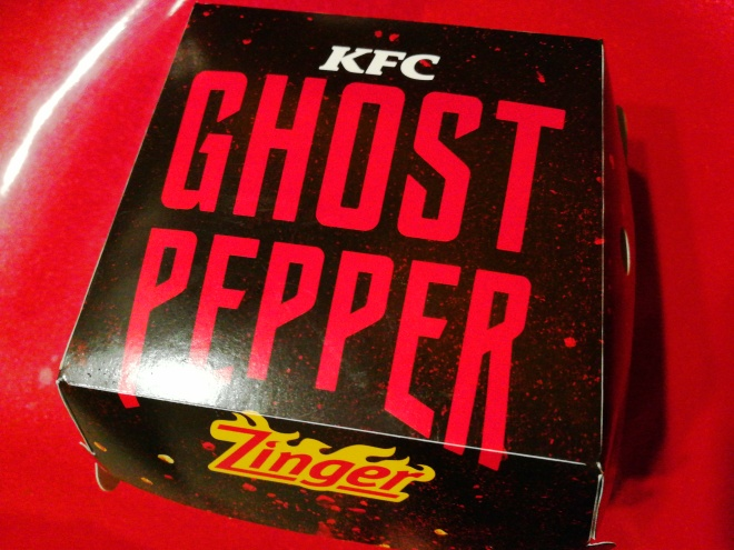 KFC Ghost Pepper Zinger Burger In A Box