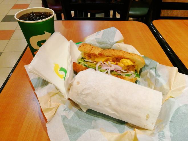 Subway Cheese Melt Sub Sandwich And Coke