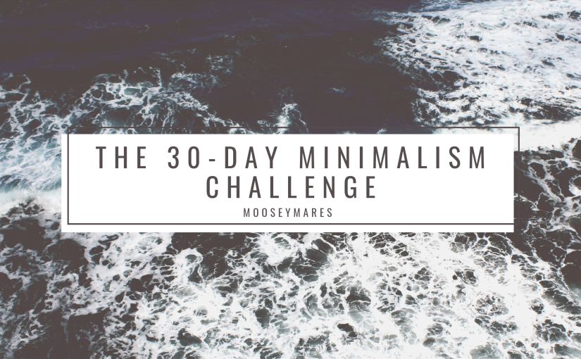 The 30-Day Minimalism Challenge | Mooseymares
